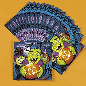 Little Monsters Luncheon Napkins - Halloween Party Supplies & Decorations & Party Favor & Goody Bags