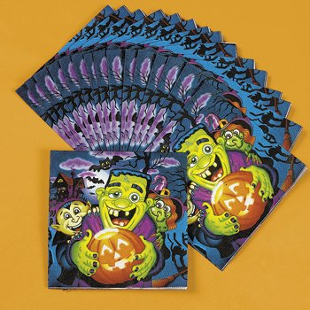 Little Monsters Luncheon Napkins - Halloween Party Supplies & Decorations & Party Favor & Goody Bags - 1