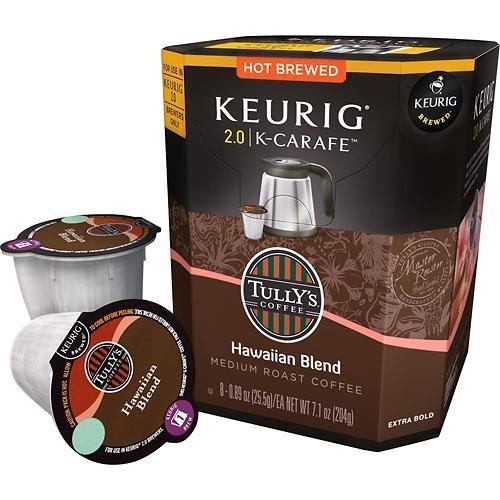 Keurig 2.0 Tully's Hawaiian Blend K-carafe Packs (8) (Keurig Hawaiian compare prices)