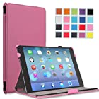 MoKo Apple iPad Air Cover Case - Slim-Fit Case with Stand for iPad Air / iPad 5 (5th Gen) Tablet, PINK (With Smart Cover Auto Wake / Sleep)