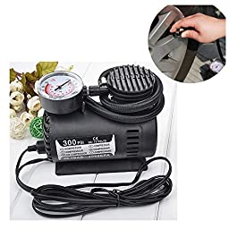 Naughtygifts Mini Tire Inflator - Portable Tyre Air Compressor Pump, 300 PSI