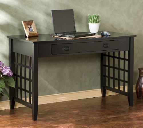 Buy Low Price Comfortable Lattice Computer Desk – Black (B002QWCETK)
