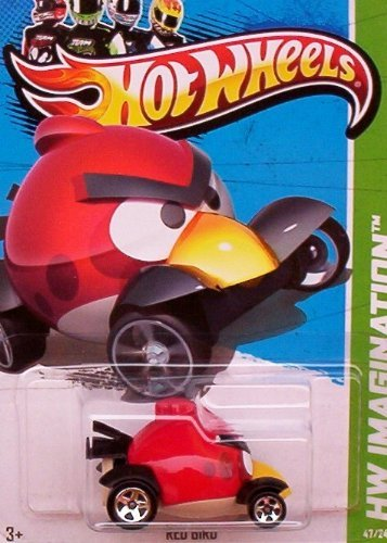 2012 Hot Wheels Hw Imagination Angry Birds - Red Bird - 1