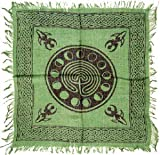 Tarot/altar Cloth - Celtic Design with Goddess and Phases of the Moon