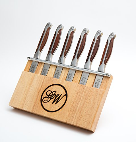 Gunter Wilhelm Cutlery 204 7-Piece Steak-Knife Set with Wooden Caddy