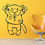 Decal Style Big Bunny Wall Sticker Large Size- 28*35 Inch