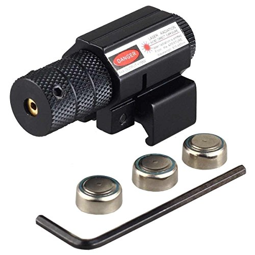 Freehawk® Compact Tactical Adjustable Red laser/Gun Red Laser/Gun-Sights Beam Dot Sight Scope Less Than 5mw for Pistol/handgun Picatinny Rail with Button Cells (Perfect for Hunting) (Airsoft Green Bullets compare prices)
