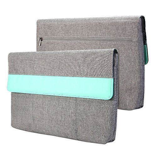 Surface Pro 3 / Surface Pro 4 Sleeve, GMYLE Sleeve Cushion for Microsoft Surface Pro 3 / Surface Pro 4 - Charcoal Grey & Mint Green Soft Sleeve Bag Case Cover (Microsoft Surface Pro 3 Sleeve compare prices)