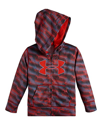 Under Armour Little Boys' Geo Stacked Hoody Loose Fit, Anthracite, 2T