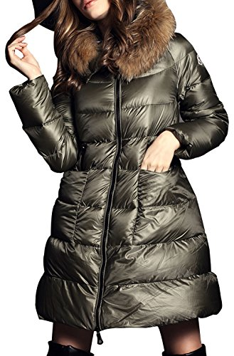 Liyayi Women'S Slim Fit Zip Up Hooded Thicken Insulated Down Coats Jacket
