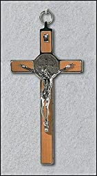 8\'\' St. Benedict Wall Crucifixes (Wood Panel) by 33AD