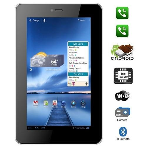 """VOX 7"""" Dual Sim Calling Slim Tablet V102 Android 4.0 With Bluetooth, Tv, Fm, 3G, Capacitive Touch"""
