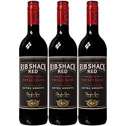 Rib Shack Red 2014 Wine 75 cl (Case of 3)