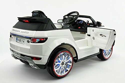 range rover style battery powered 12v kids electric ride on car with mp3 player fm radio led wheels with full function parental remote control