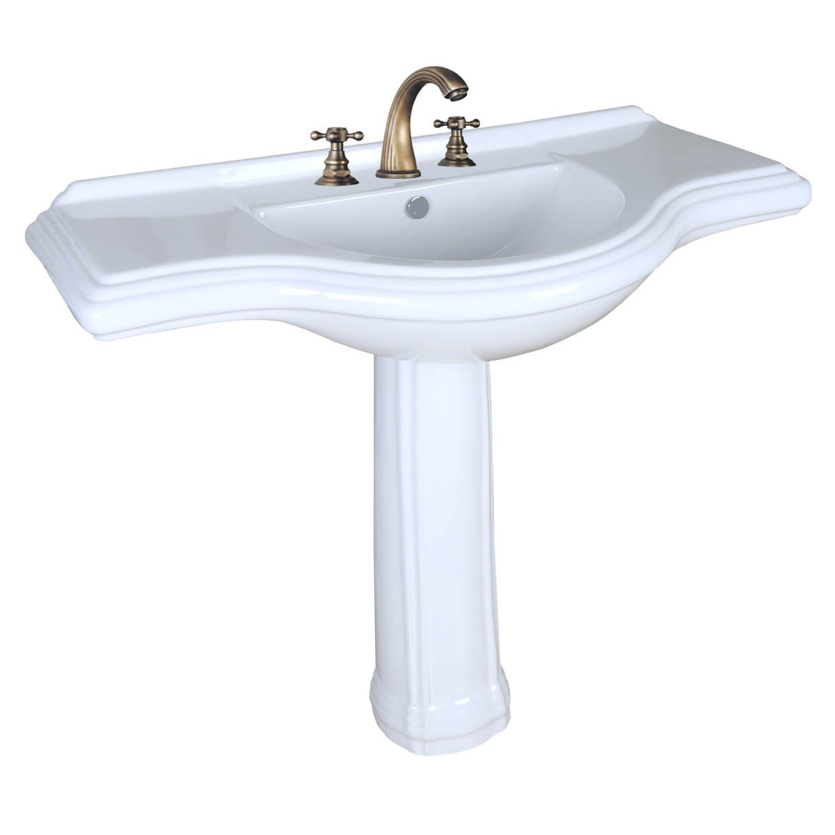Pedestal Sink Extra Large White Vitreous China 8