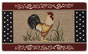 Amazon Com Rooster Kitchen Accent Rug Country Farm