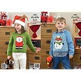 King Cole DK Knitting Pattern - 3805 Christmas Sweaters