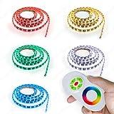 8 Meter LED Strip RGB (Mehrfarbig) LED Band mit 480 SMD 5050 LEDs Komplett Set mit Netzteil+ Controller+ Touch Fernbedienung IP65 wasserabweisend