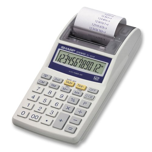 Sharp Electronics EL1611PA Printing Calculator with AC AdapterB0000E3QLY