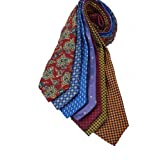7Piece 100% Pure Silk Ties. Made in England. (213D)RRP£139.99