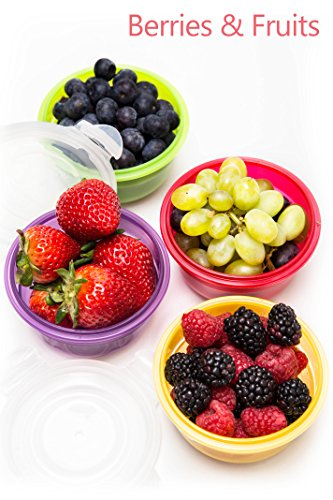 Lock & Lock 24pc Set Plastic Food Storage Mini Bowl 250ml/8 oz Assorted Container Airtight Anti-Spill Proof Technology