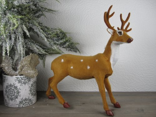 Super schönes Reh Rentier Winter Deko 36 cm