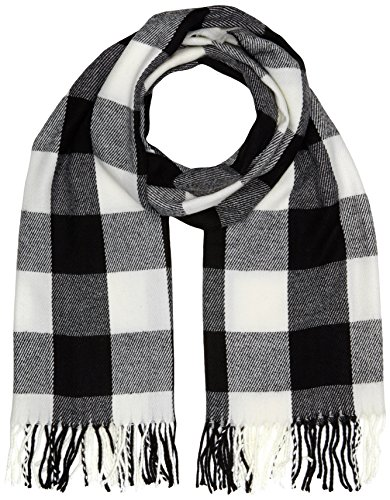 dorothy-perkins-womens-gingham-scarves-multicoloured-black-white-one-size