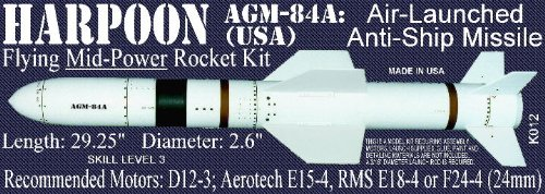 Launch Pad Model Rocket Kit K012 Harpoon