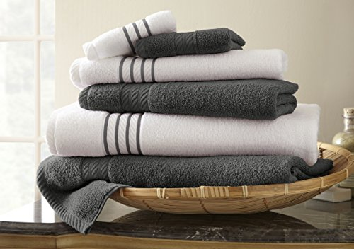 6-piece-quick-dry-stripe-towel-set-platinum