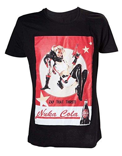 Fallout Nuka Cola Lady-T-shirt  Uomo    nero Medium