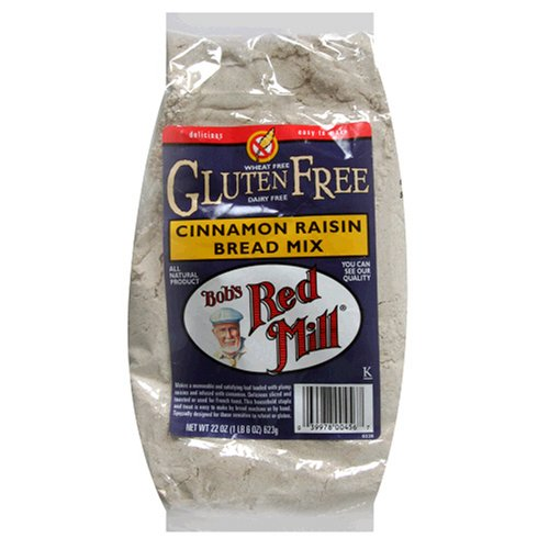 Bob's Red Mill Gluten-Free Cinnamon Raisin Bread Mix, 22-Ounce Units (Pack of 4)