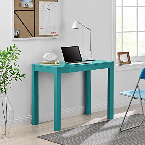 Altra Furniture Parsons Desk with Drawer, Teal