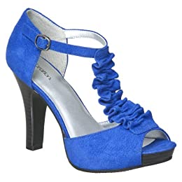 Product Image Women's Xhilaration Tabitha Faux Suede Peep Toe Pumps - Blue