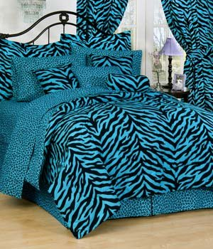 Blue Leopard Bedding back-789903