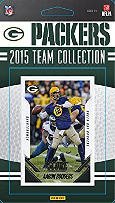 Green Bay Packers 2015 Score Factory Sealed NFL Football Complete Mint 15 Card Team Set Including Clay Matthews Aaron Rodgers Brett Hundley Rookie Plus