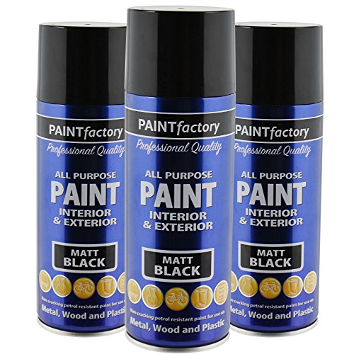 all-purpose-automotive-spray-paint-400ml-can-black-matt-aerosol-metal-interior-exterior-fast-dry-exc
