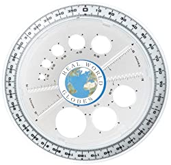 Real World Globe SMM1050-20 Spherical Protractor, Colors May Vary