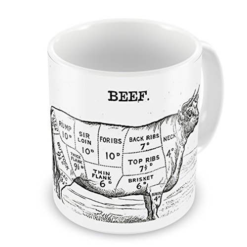 Coffee Mug Beef / Butcher cuts - Neonblond (Butcher Coffee Cup compare prices)