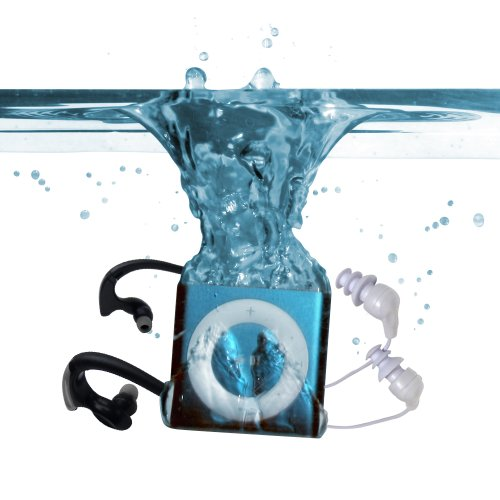 Underwater Audio Waterproof Ipod Mega Bundle (Blue) front-1043377