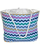 Oversized Beach / Pool Tote - Platinum Series with Zipper / Pocket