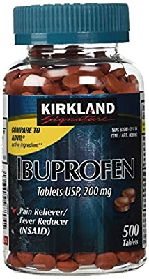 Kirkland Signature Ibuprofen Tablets USP, 200MG 500-Tablets