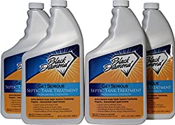 GET SERIOUS Septic Tank Treatment Liquid Natural Enzymes For Residential, Commercial, Industrial, RV\'s Systems. (4, quart)