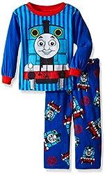 Thomas the Train Little Boys' Engine Stripes 2-Piece Pajama Set, Blue, 2T