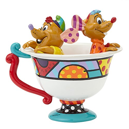 "Designer: Romero Britto Figurine ""KNI Gus en forme de tasse de thé"