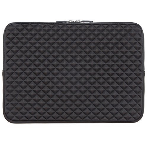 "iCozzier 15""-15.6"" pollice Diamante Schiuma Splash Sleeve Borsa per Asus Acer HP Lenovo Dell Samsung Toshiba Chromebook Macbook Ultrabook Laptop Notebook Computer - Nero"