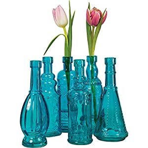 Amazon.com - Luna Bazaar Small Vintage Bottle Set (7-Inch