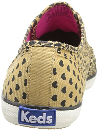 Keds Champion Heart Leopard Womens Oxford Shoes