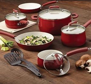 Paula Deen Savannah Collection Red 17-piece Aluminum Nonstick Set