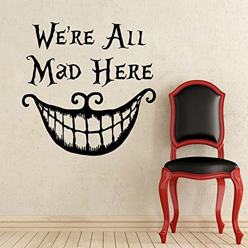 Alice In Wonderland Wall Decal Quote Cheshire Cat Sayings