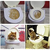 PVC Size:38*37*3cm Easy to Learn Cat Toilet Training Kit for Pet Training and Behaviour Aids Drop Shipping Gift Cat Nip